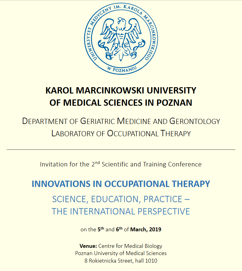 Training Conference - INNOVATIONS IN OCCUPATIONAL  THERAPY